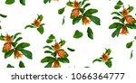 pomegranate branch seamless...   Shutterstock .eps vector #1066364777