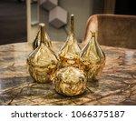 four beautiful glossy golden...   Shutterstock . vector #1066375187