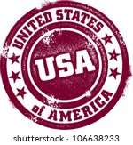 United States of America USA Vintage Stamp - stock vector