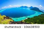 scenic panoramic top view of...   Shutterstock . vector #106638503