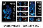 set of templates for poster ... | Shutterstock .eps vector #1066395557