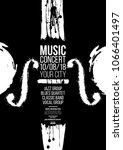poster idea for music event ... | Shutterstock .eps vector #1066401497
