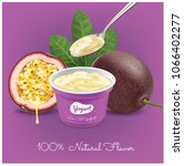passion fruit ice cream cup...   Shutterstock .eps vector #1066402277