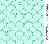 mermaid tail seamless pattern.... | Shutterstock .eps vector #1066429667