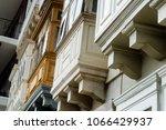 closed wooden balconies in... | Shutterstock . vector #1066429937