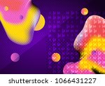 graphic illustration with... | Shutterstock . vector #1066431227