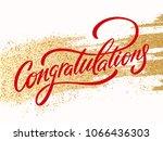 congratulations. greeting card. ... | Shutterstock .eps vector #1066436303