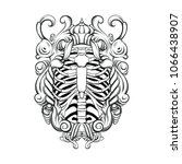 vector hand drawn illustration... | Shutterstock .eps vector #1066438907