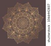 mandala vector design element.... | Shutterstock .eps vector #1066442837