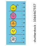 children meter wall. cute birds | Shutterstock .eps vector #1066467557
