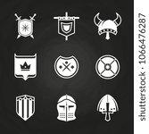 white silhouette viking knight... | Shutterstock .eps vector #1066476287