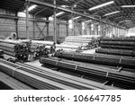 construction material in storehouse - stock photo