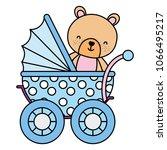 color bear teddy animal inside... | Shutterstock .eps vector #1066495217