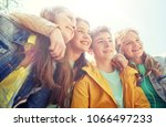 friendship and people concept   ...   Shutterstock . vector #1066497233