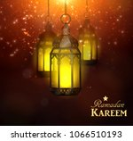 ramadan kareem greetings | Shutterstock .eps vector #1066510193