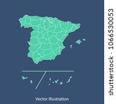 spain provinces map   high... | Shutterstock .eps vector #1066530053