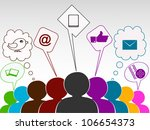 social networking 3d peoples... | Shutterstock .eps vector #106654373