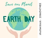 earth day. vector template with ...   Shutterstock .eps vector #1066547483