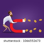 business concept of businessman ... | Shutterstock .eps vector #1066552673