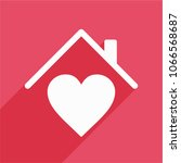 house with heart  love home... | Shutterstock .eps vector #1066568687