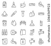 thin line icon set  ... | Shutterstock .eps vector #1066569923