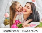 happy women's day  child... | Shutterstock . vector #1066576097