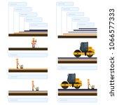 vector road roller  road roller ...   Shutterstock .eps vector #1066577333
