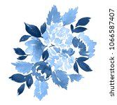 watercolor floral composition... | Shutterstock . vector #1066587407