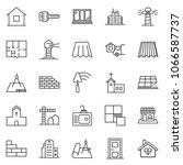 thin line icon set  ... | Shutterstock .eps vector #1066587737