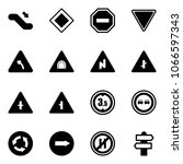 solid vector icon set  ... | Shutterstock .eps vector #1066597343