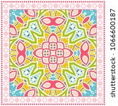 decorative colorful ornament on ... | Shutterstock .eps vector #1066600187