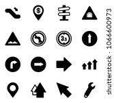 solid vector icon set  ... | Shutterstock .eps vector #1066600973