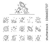 space icons made in modern line ...   Shutterstock .eps vector #1066602737