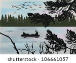 illustration with fisherman... | Shutterstock .eps vector #106661057