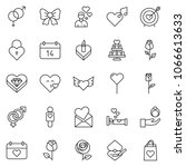 thin line icon set   rose... | Shutterstock .eps vector #1066613633