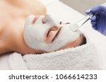 face mask  spa beauty treatment ...   Shutterstock . vector #1066614233