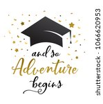 graduation party invitations ... | Shutterstock .eps vector #1066620953