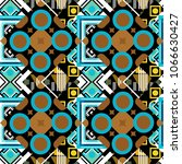 black  brown and blue ethnic... | Shutterstock .eps vector #1066630427