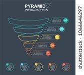 pyramid infographics. funnel...   Shutterstock .eps vector #1066646297