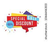 special sale banner  discount...   Shutterstock .eps vector #1066646303