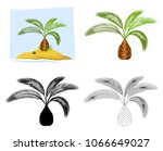 tropical palm trees.... | Shutterstock .eps vector #1066649027