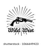 western revolver. wild west... | Shutterstock . vector #1066649423