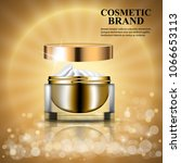 cosmetic ads template poster... | Shutterstock .eps vector #1066653113
