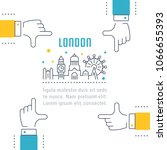 line illustration of london.... | Shutterstock .eps vector #1066655393