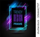vector modern frame with... | Shutterstock .eps vector #1066662737