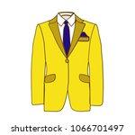 vector illustration of yellow... | Shutterstock .eps vector #1066701497