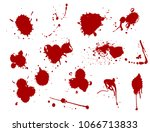 blood splat splash spot ink... | Shutterstock .eps vector #1066713833