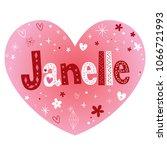 janelle   impressive feminine... | Shutterstock .eps vector #1066721993