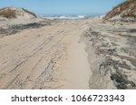 off road beach access   a... | Shutterstock . vector #1066723343