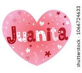 juanita feminine given name | Shutterstock .eps vector #1066724633